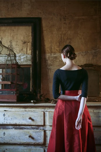 inspired by the paintings of Vilhelm Hammershøi, Photography/Creative Direction: Monia Merlo